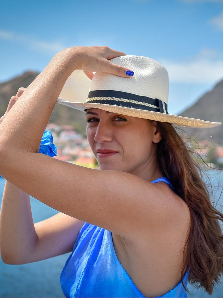 Panama femme Maogany