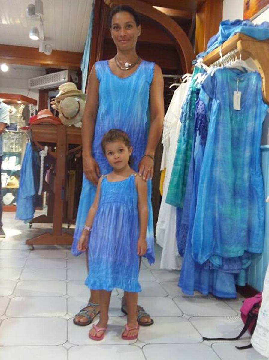 Robe bleu fille Maogany
